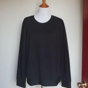 LOFT XL Quilted Black Sweatshirt
